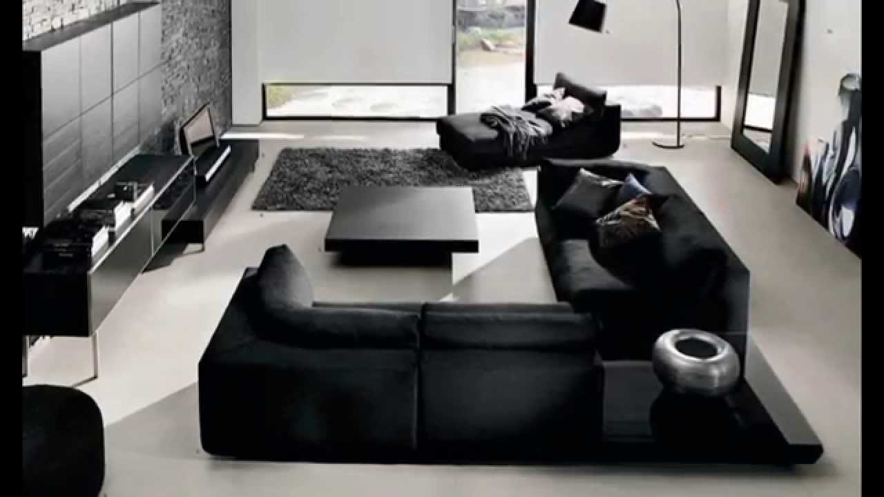 contemporary living room design black and white with modern