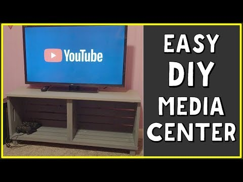 How to Make a Entertainment Center for TV and Gaming Consoles DIY