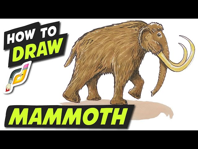 How to Draw MAMMOTH - Fun Easy Simple step by step - Beginner