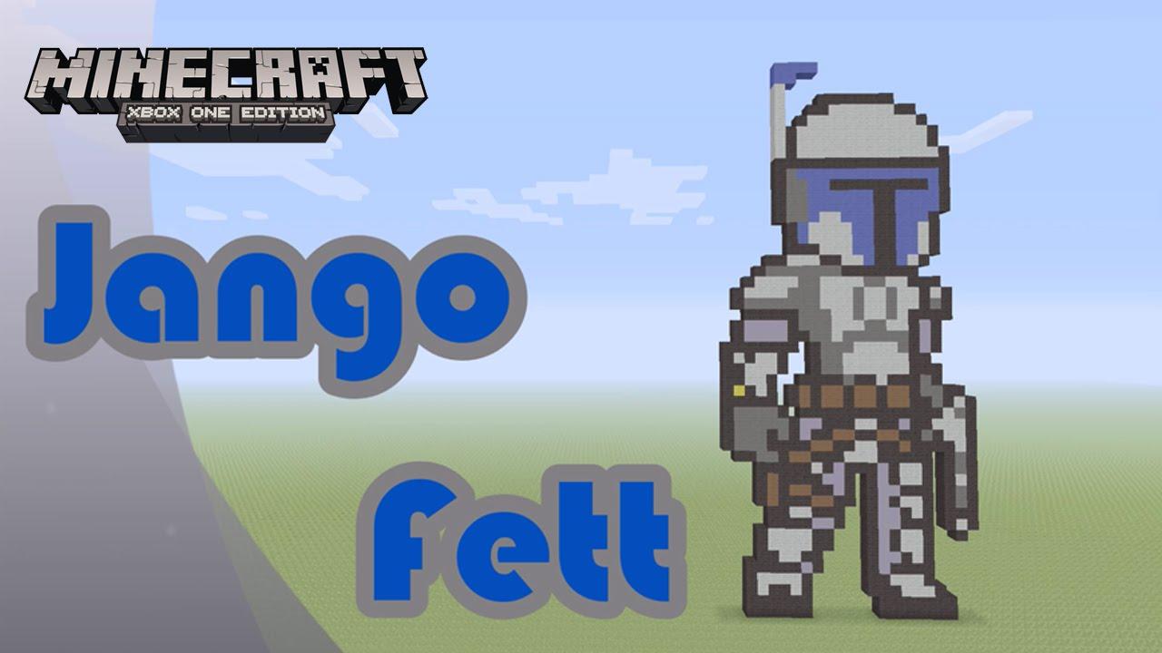 Minecraft Pixel Art Tutorial And Showcase Jango Fett Star Wars