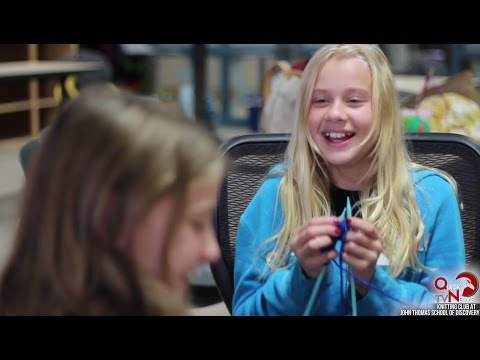 Knitting Club at John Thomas School of Discovery, QuickNews TV, 2016