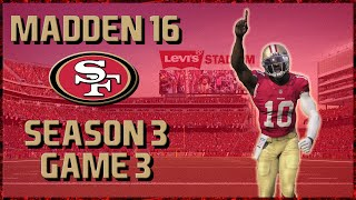 Madden 16 Franchise: San Francisco 49ers | Year 3, Game 3 vs Colts | RGIII