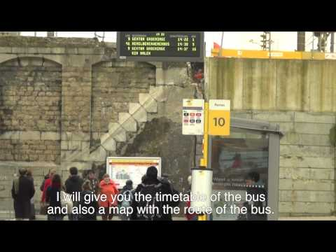 How to get from Ghent Sint-Pieters towards the housing department?