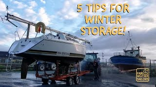 5 Tips For Winter Storage! - Fair Weather Sailors