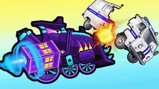 КУПИЛ КРУТОЙ ЛОКОМОТИВ в игре Машина Ест Машину 3 погоня полицейских мультик игра про машинки #ФГТВ