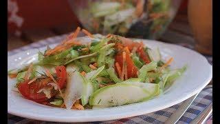 Болгарский салат с цукини. Zucchini salad.