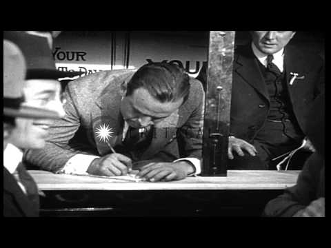 Hollywood stars Mary Pickford and Douglas Fairbanks at the Third Liberty Loan dri...HD Stock Footage