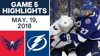 NHL Highlights | Capitals vs. Lightning, Game 5 - May 19, 2018