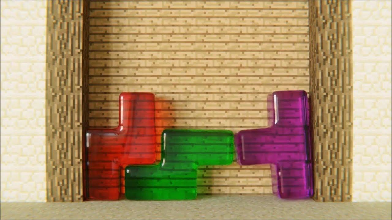 Minecraft Softbody Tetris T-spin