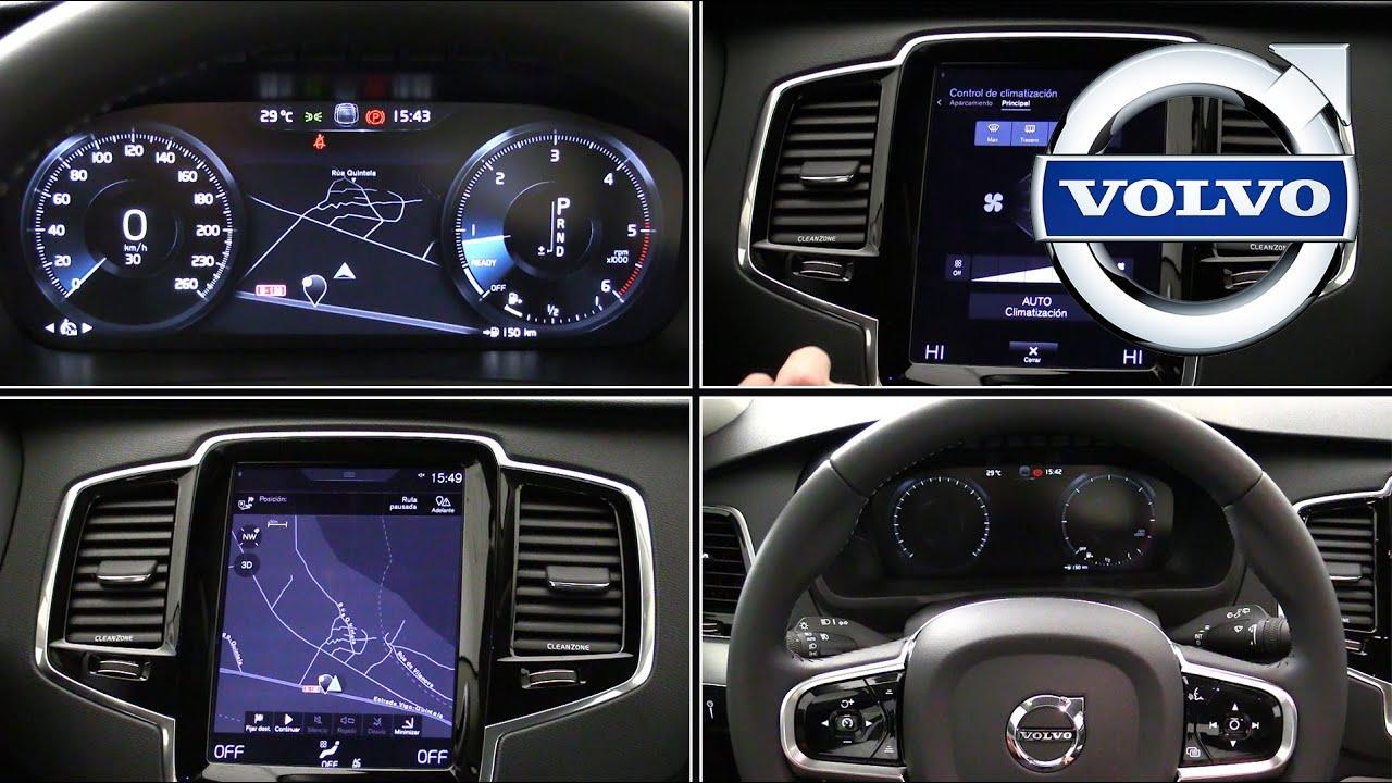 Volvo sistema multimedia 2016 | Menús y botones - YouTube