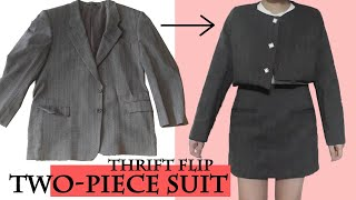 Thrift blazer to two-pice suit…