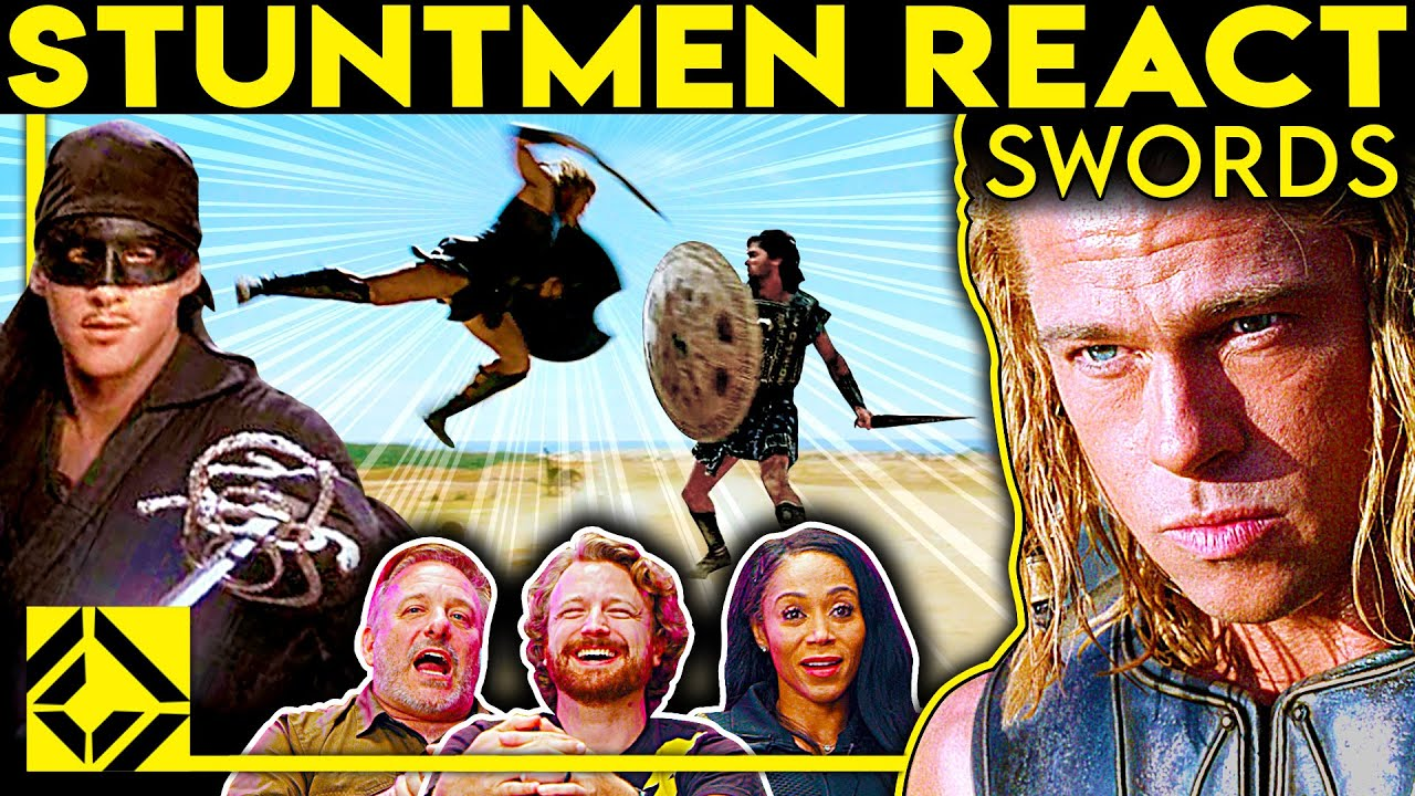 Stuntmen React To Bad & Great Hollywood Sword Fights 2