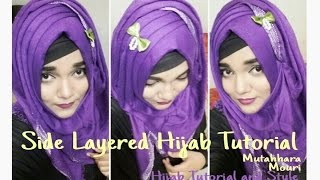 Side Layered Hijab Tutorial for Party Wear || Mutahhara♡