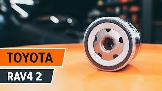 TOYOTA RAV4 Öljynsuodatin asentaa : videokäsikirjat