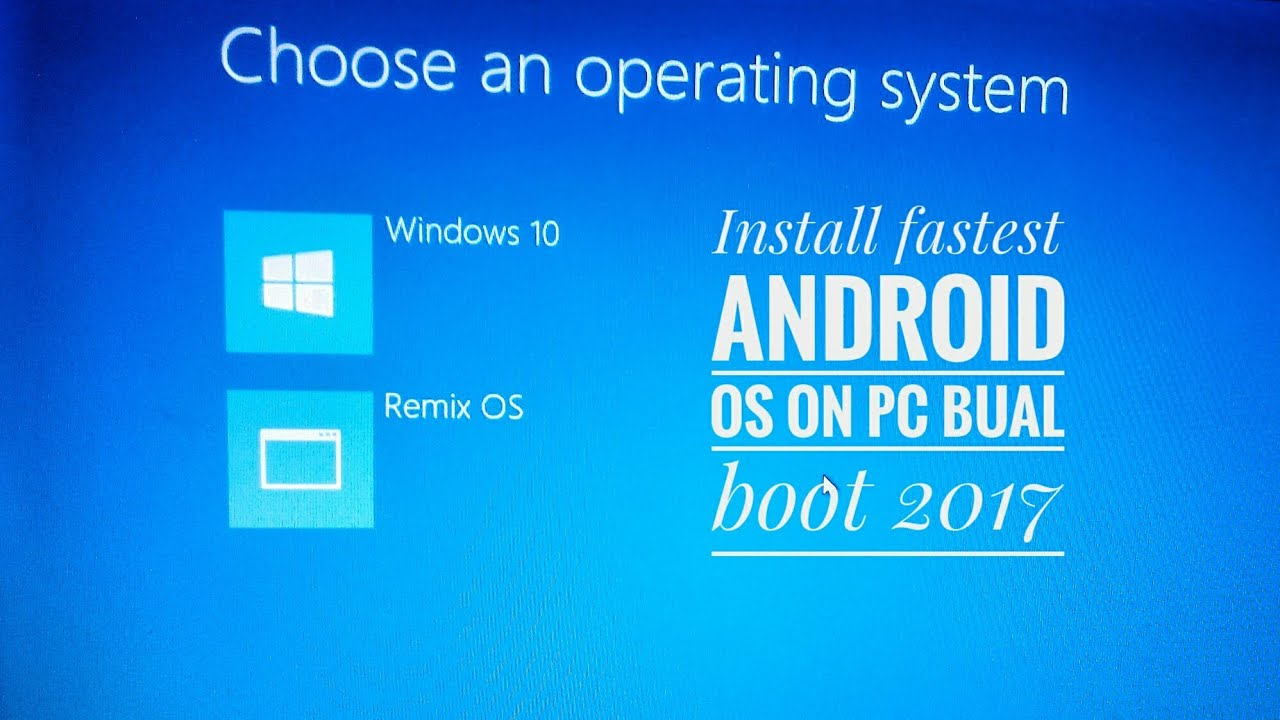 How to install Android OS on pc Dual boot