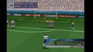 FIFA world cup 98: ps1:England Vs Brasil