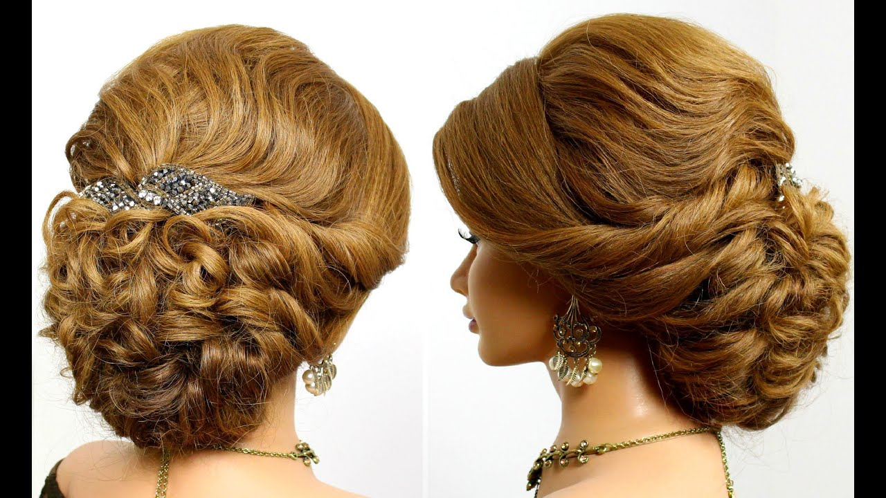 Beautiful Bridal Hairstyle For Long Hair: Prom Updo, Bridal Hairstyle For Long Hair Tutorial.