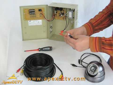 hqdefault video tutorial how to power your cctv security cameras youtube micromark cctv camera wiring diagram at mifinder.co