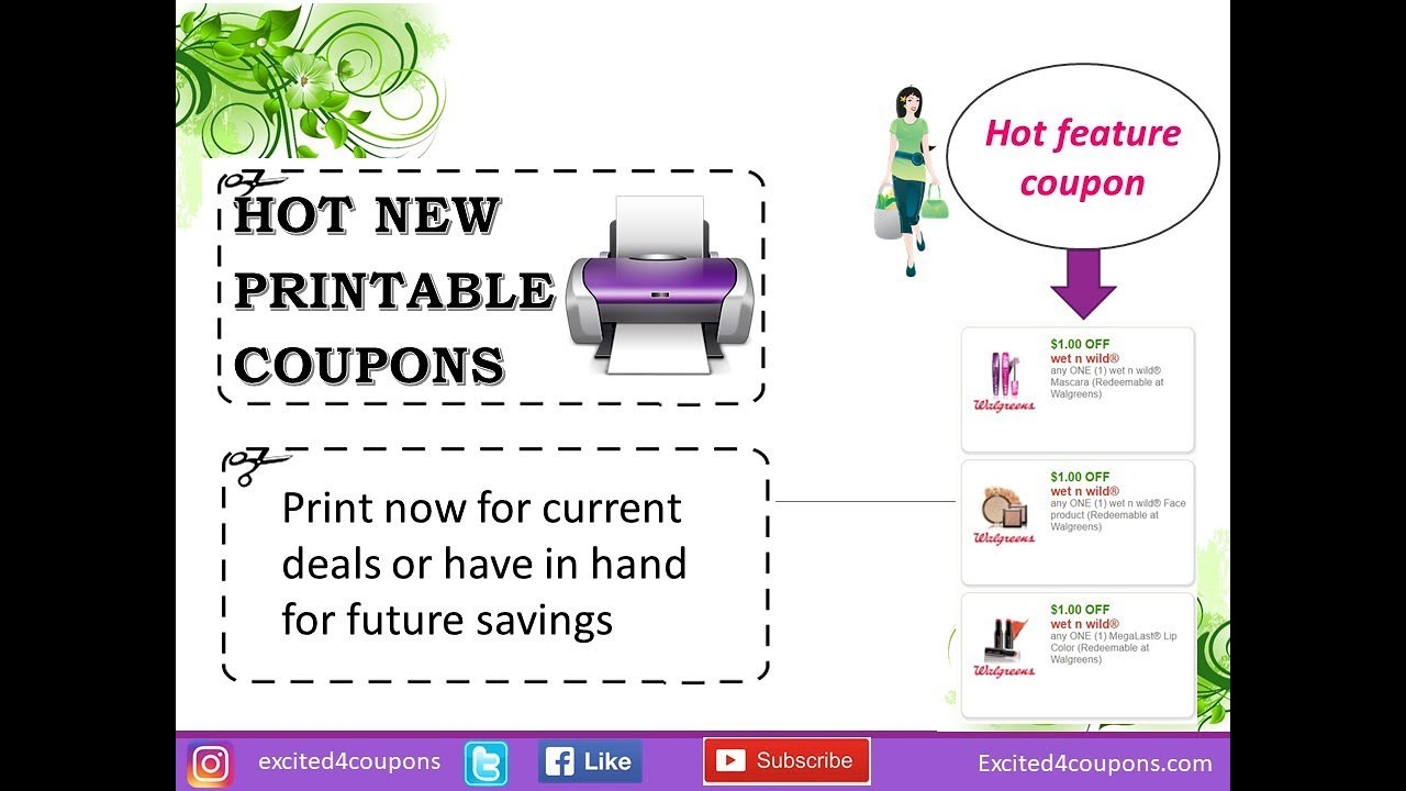 graphic relating to Wet and Wild Printable Coupons titled Fresh new Moist N Wild Printable Discount coupons (12/13/17) (inbound links furnished)