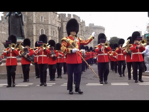 Changing the Guard at Windsor Castle - Sunday the 15th of April 2018