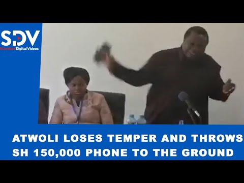 Atwoli loses temper and throws his Sh.150,000 phone to the ground