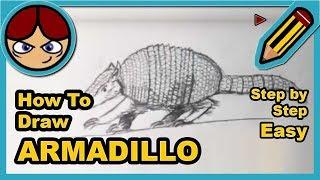 Como dibujar un armadillo - How to draw an armadillo