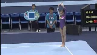 HUANG Qiushuang, FX Final Live, FIG World Cup, Zibo CHINA 2012