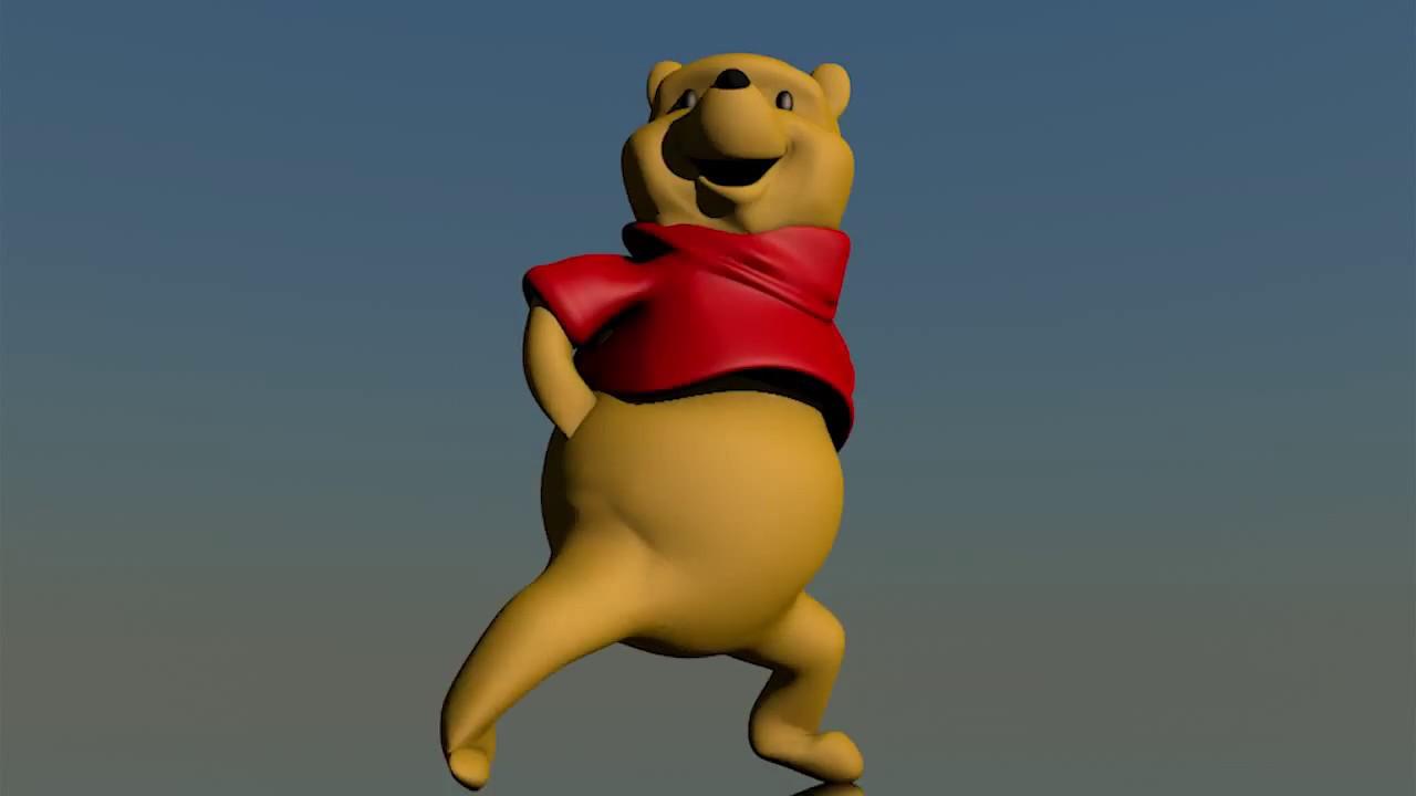 Winnie The Pooh 3d Meme Dancing Gangsta Rap Songs Official Remix