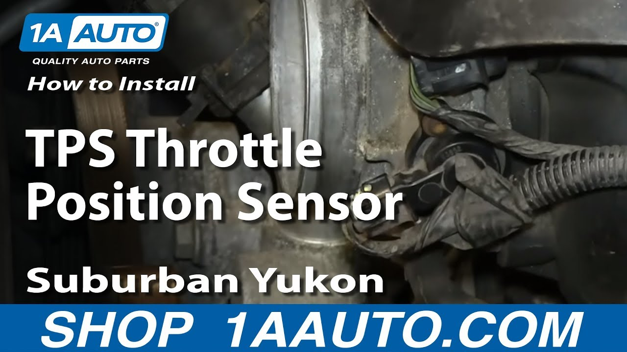 how to install replace tps throttle position sensor gm 5 3l suburban yukon youtube [ 1920 x 1080 Pixel ]