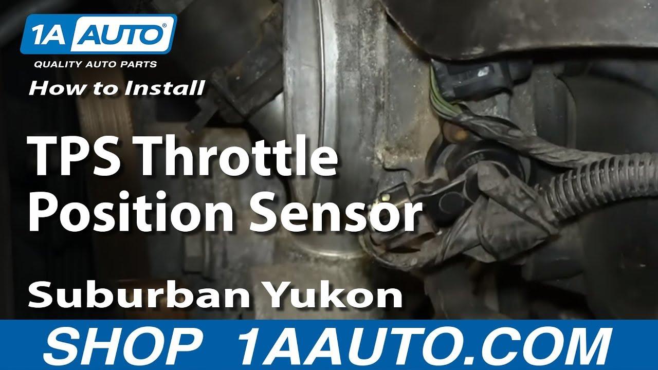 How To Install Replace TPS Throttle Position Sensor GM 53L Suburban Yukon  YouTube