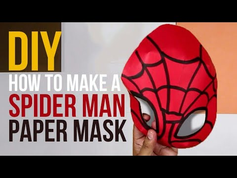 DIY | How to make a Spiderman paper mask