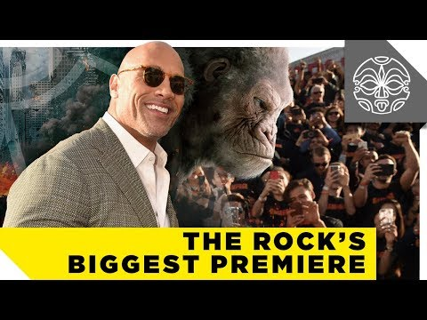The Rock's Biggest Movie Premiere EVER — Rampage