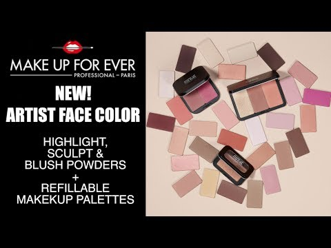Makeup Forever Artist Face Color Review   Highlight, Sculpt and Blush Powder