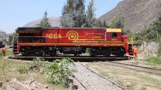FCCA Locomotive turning at San Bartolome Peru