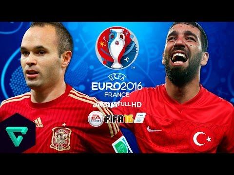 Spain vs. Turkey | Round of 16 | UEFA Euro 2016 Simulation | FIFA 16