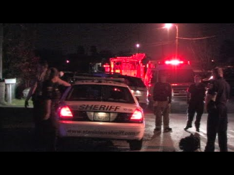 Deputies Investigate Stabbing In Modesto, California - News Footage