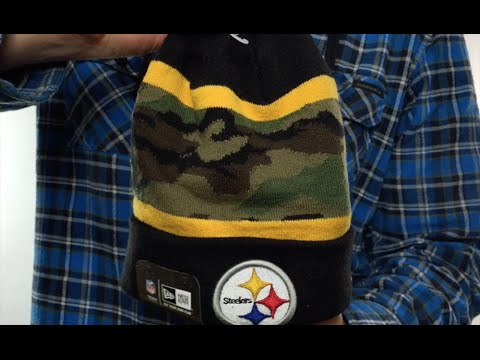 53c8a7456320b5 Pittsburgh Steelers ARMY CAMO FILLZ Knit Beanie Hat