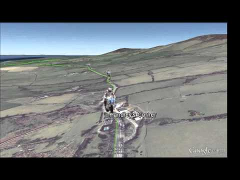 Isle of Man Tourist Trophy Snaefell Mountain Course in Google Earth