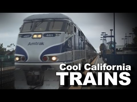 Cool California Trains: Amtrak, Metrolink, and Coaster in San Diego County!