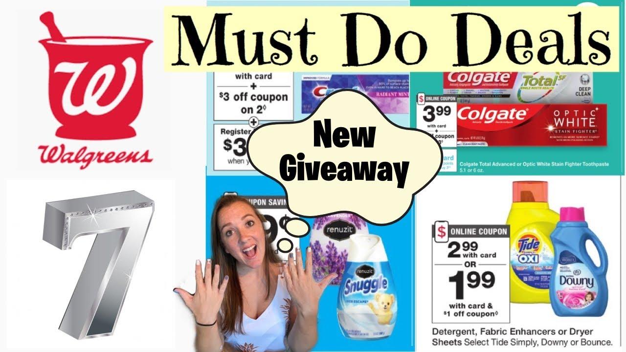 Must Do Walgreens Deals 8/9-15/2020 I ENTER GIVEAWAY! I FREE Crest! I $1.49 Tide