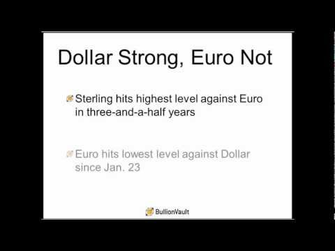 Gold, Silver Hit 4-Month Lows on Strong Dollar - Gold Market Weekly Review - 11 May 2012