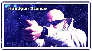 Here's a demonstration of the two most popular handgun shooting sta...