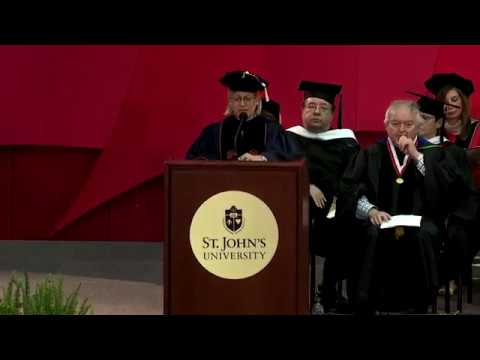 The Peter J. Tobin College of Business Queens Graduate Commencement Exercises 2018