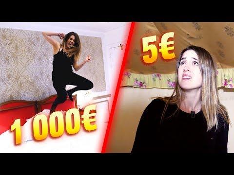 NUIT D'HÔTEL à 1000€ VS à NUIT D'HÔTEL À 5€