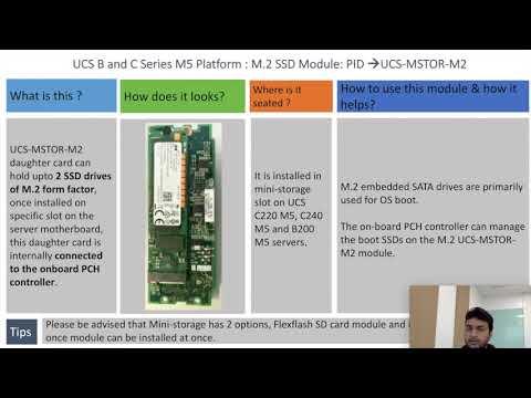 UCS M5 Servers -M2 SATA - UCS-MSTOR-M2 - YouTube