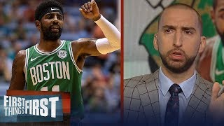 Nick Wright on Kyrie confirming his plan to re-sign with the Celtics | NBA | FIRST THINGS FIRST