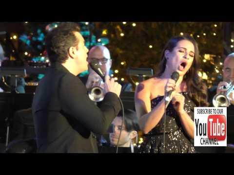 Seth MacFarlane and Lea Michele at the Grove Christmas With Seth MacFarlane at The Grove in Hollywoo