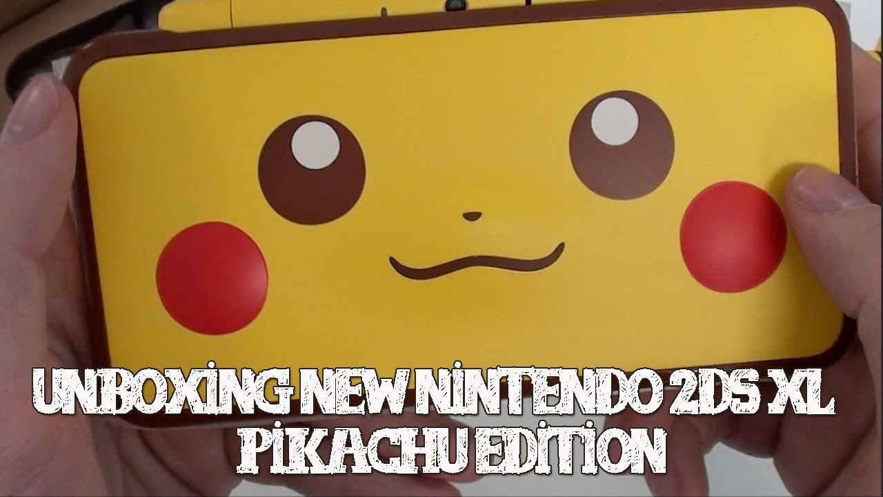 Unboxing New Nintendo 2ds Xl Pikachu Edition Youtube