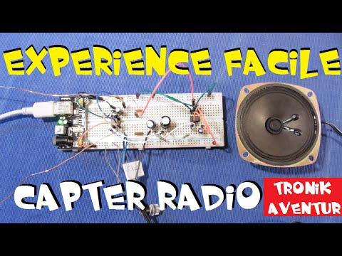 TRONIK AVENTUR 133 - COMMENT CAPTER une RADIO FACILEMENT avec LM386 TUTORIEL