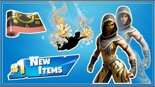 Fortnite NEW Sandstorm / Scimitar Skins, Chrono Trail, Emblem Wrap!